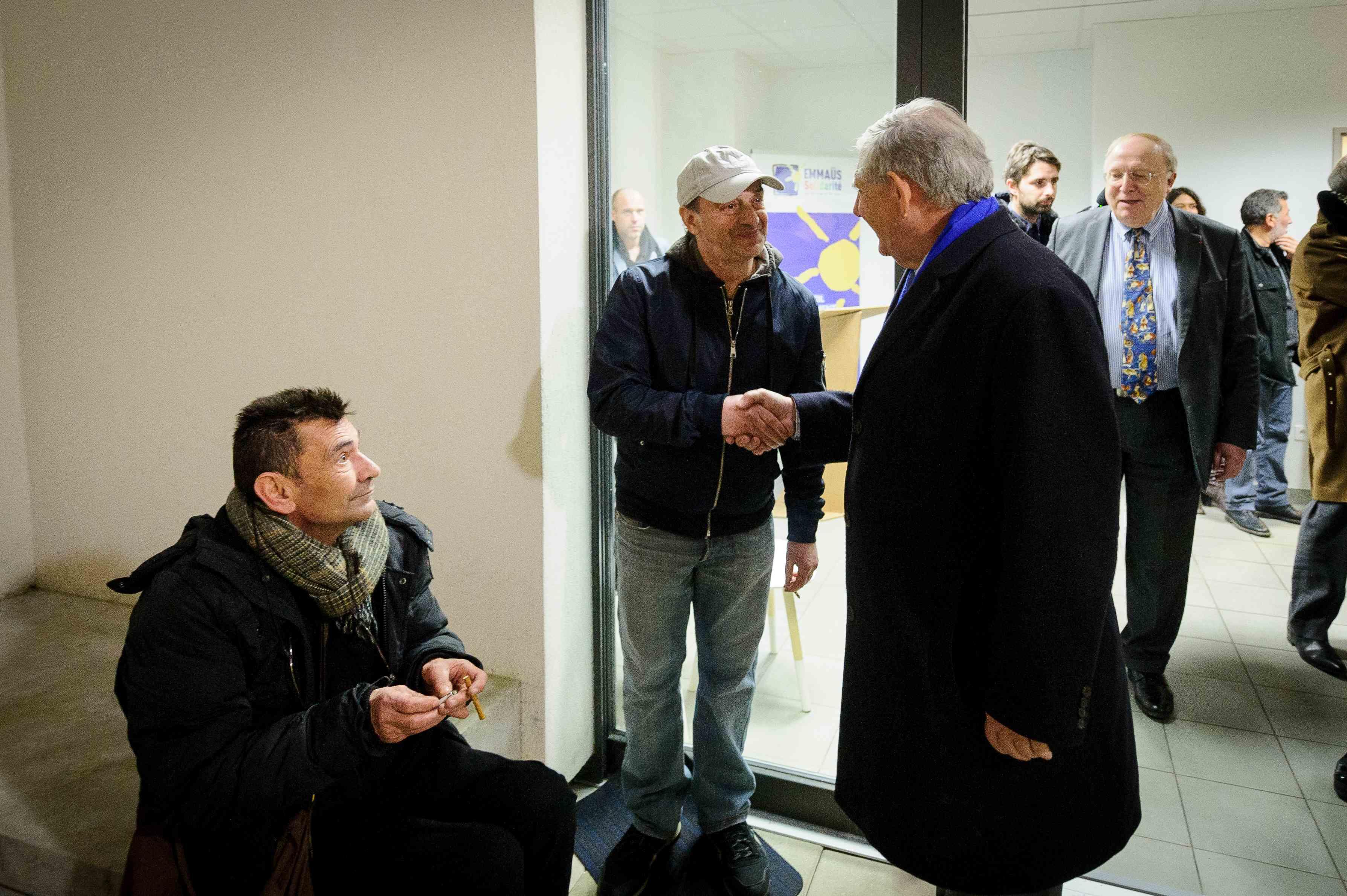 Emmaüs Solidarité accueille Jacques Mézard à la pension de famille Les Marronniers