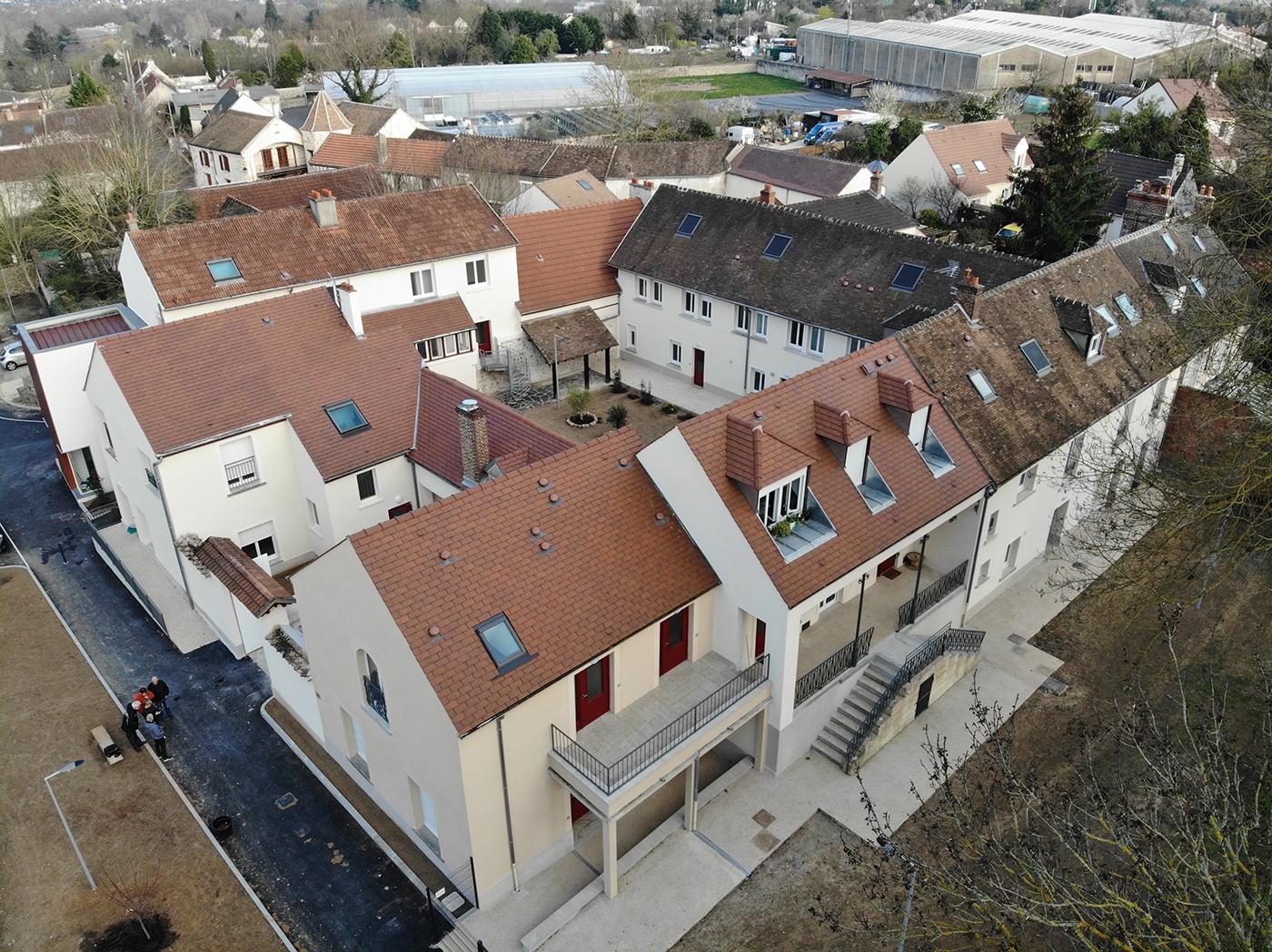 Inauguration du Clos du Lavoir : 15 logements d'insertion et une pension de famille créés par l'association «Monde en Marge Monde en Marche»