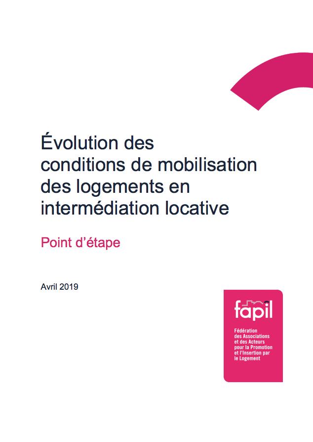 Évolution des conditions de mobilisation des logements en intermédiation locative