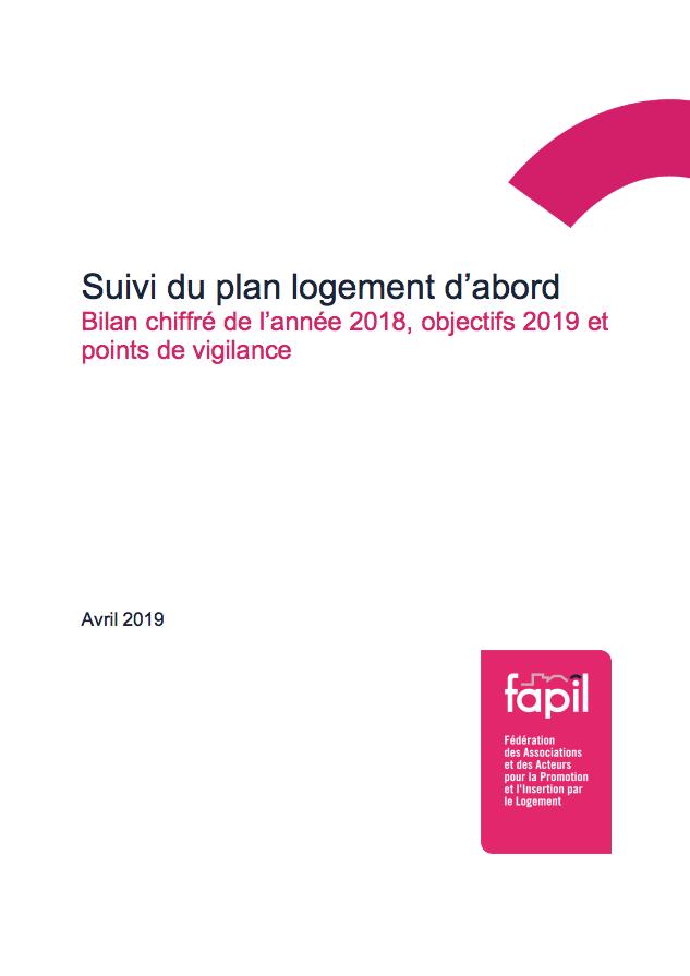 Suivi du plan logement d'abord : bilan chiffré de l'année 2018, objectifs 2019 et points de vigilance