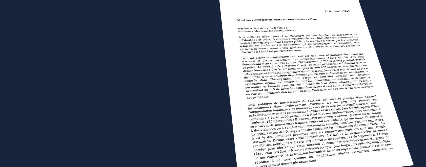 Débat sur l'immigration : la Fapil co-signataire d'une lettre ouverte aux parlementaires