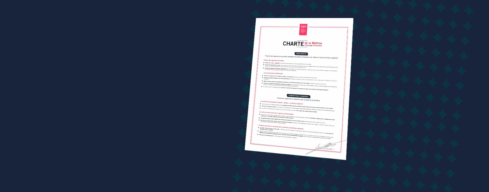 La Fapil adopte sa Charte de la Maîtrise d'Ouvrage d'Insertion