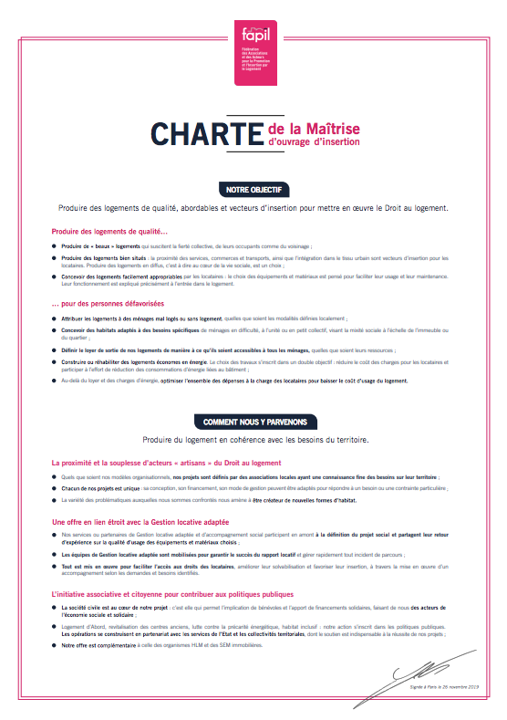 Charte de la FAPIL