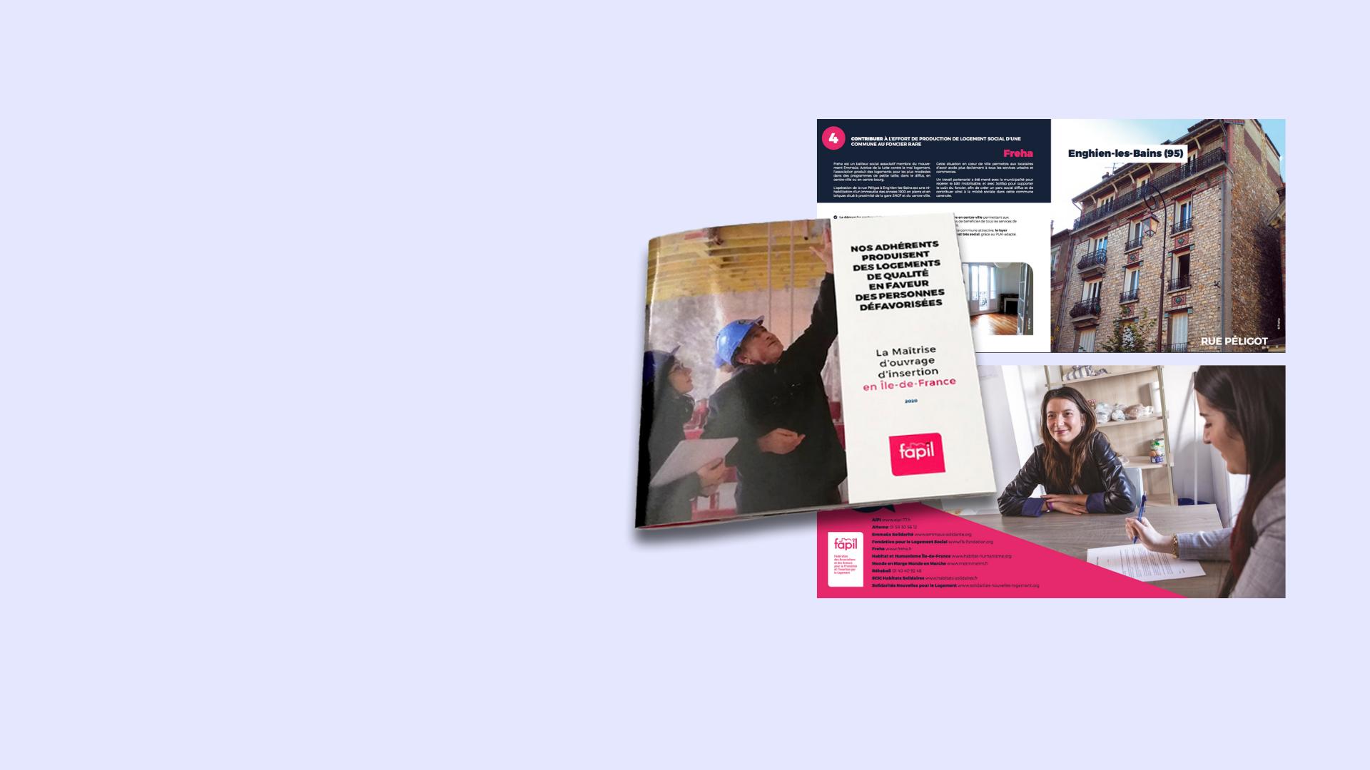 La Fapil édite un livret pour promouvoir la production de logements sociaux de qualité pour personnes modestes en Île-de-France grâce aux associations