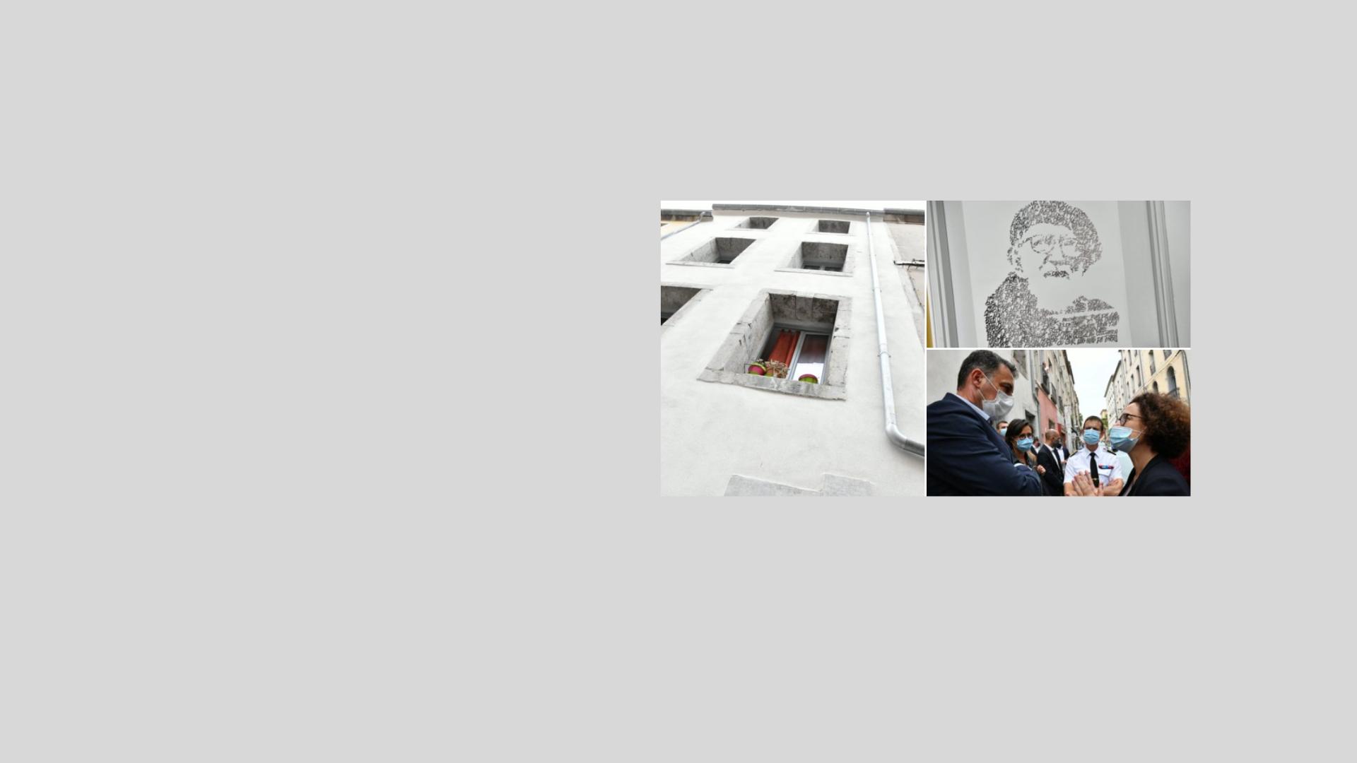 Emmanuelle Wargon visite un immeuble réhabilité par Adages à Sète