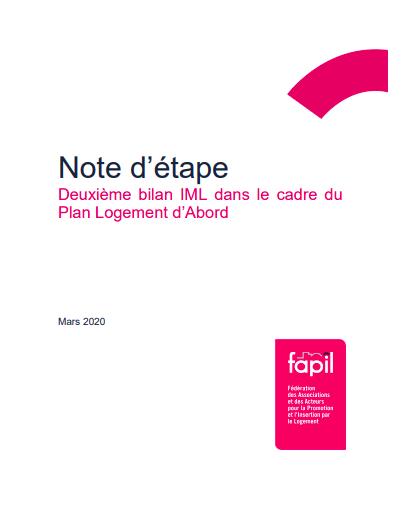 Note d'étape - Deuxième bilan IML dans le cadre du Plan Logement d'Abord
